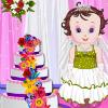 Kūdikių Lisi vestuvių tortą