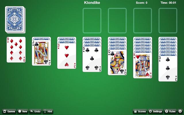 Paveiksliukas Solitaire - kortų žaidimas